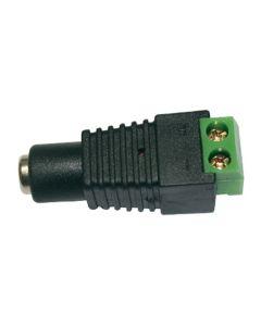 Connecteur DC à terminal à vis femelle 2.1mm sur câble